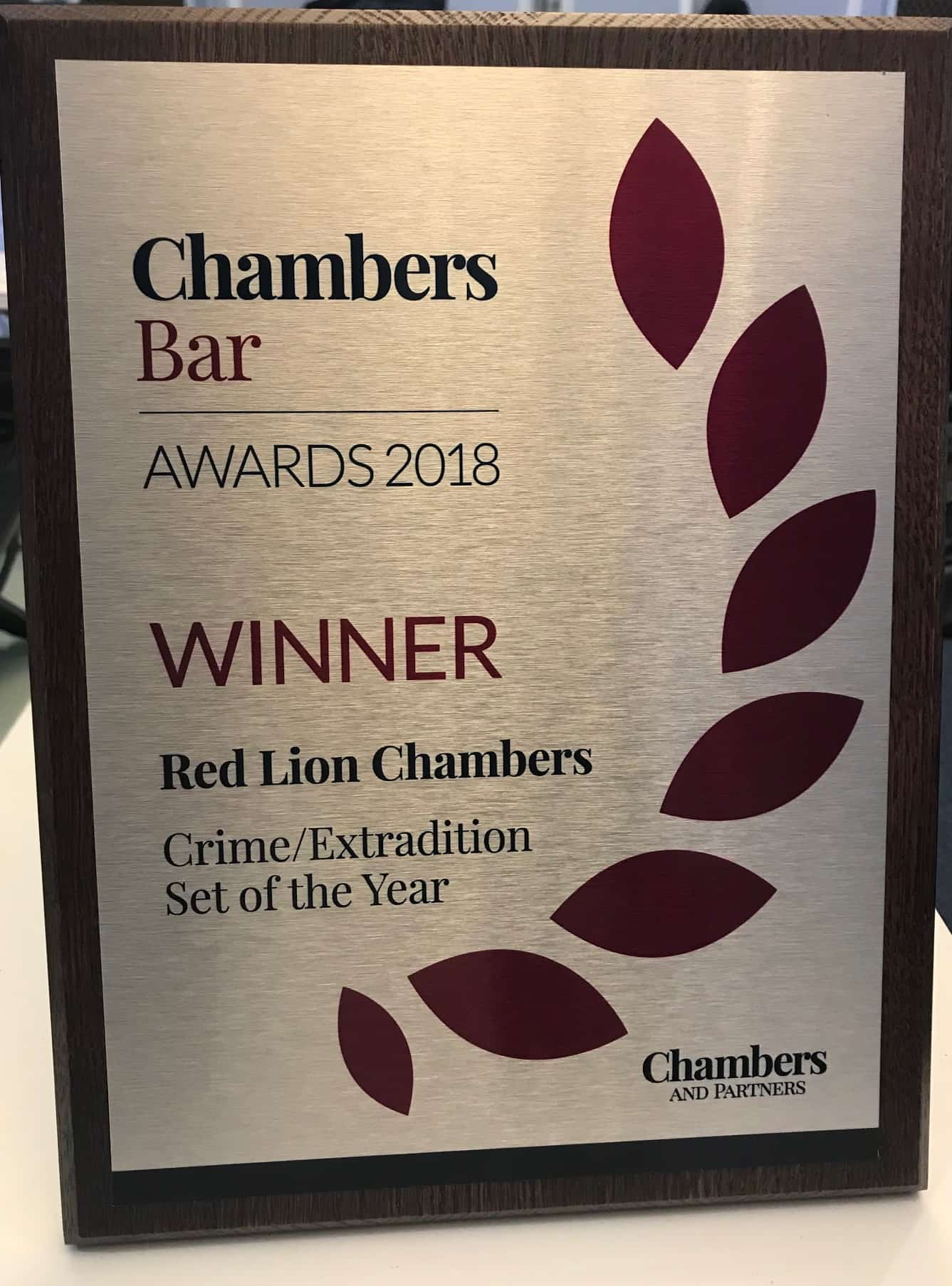 Red Lion Chambers has been awarded Criminal Set of the Year
