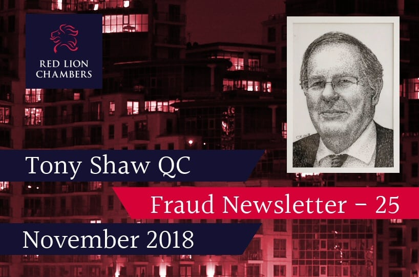 Fraud Newsletter 25 - November 2018
