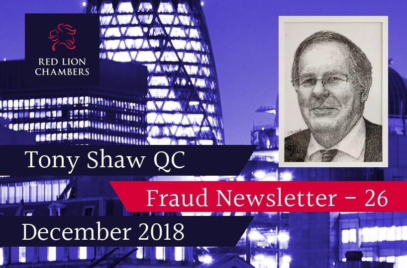 Fraud Newsletter 26 – December 2018