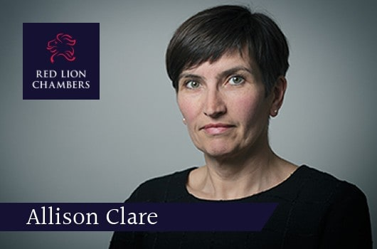 Allison Clare QC shortlisted for 'Barrister of the Year' talks to The Lawyer Awards