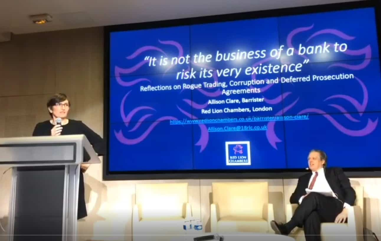 David Walbank QC and Allison Clare lecture at Paris economic-crime conference is live-streamed worldwide.