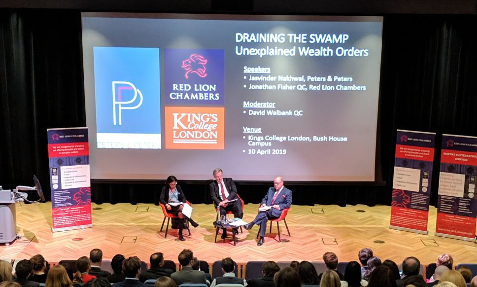 The second of The Red Lion Lectures looking at 'Unexplained Wealth Orders' took place at Bush House, Kings College last night.