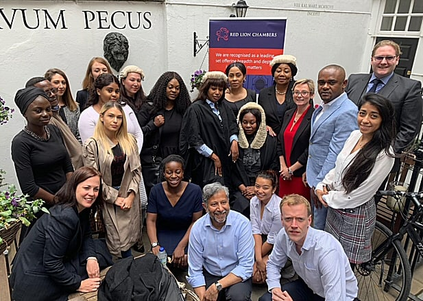 """Red Lion Chambers """"Open Doors"""" launched with law students from the University of East London."""
