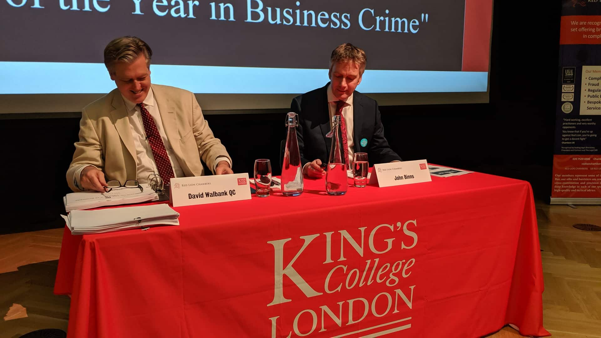 David Walbank QC and John Binns of BCL Solicitors LLP present their 'Review of the Year in Business Crime'