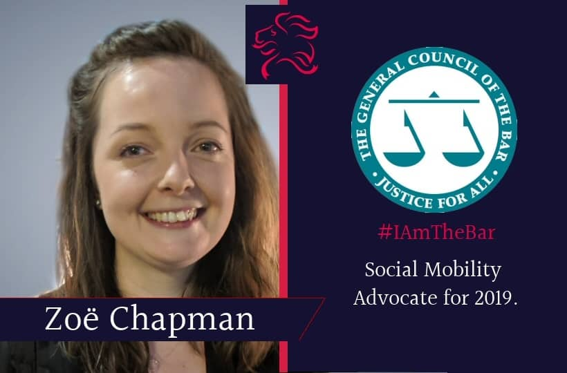 Congratulations to RLC Member Zoe Chapman who has been selected by The Bar Council #IAmTheBar campaign as a Social Mobility Advocate for 2019.