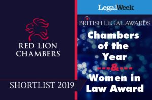 We are delighted to have been shortlisted for 'Chambers of the Year' by British Legal Awards 2019 with joint-Head of Chambers Gillian Jones QC nominated as a finalist for the prestigious Women in Law Award.