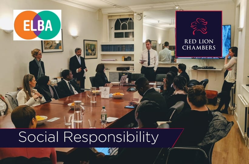 Red Lion Chambers launches bespoke mentoring programme, in partnership with ELBA.
