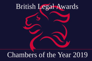 Red Lion awarded Chambers of the Year 2019 at the British Legal Awards. Joint Head of Chambers Gillian Jones QC highly commended for Women In Law Award