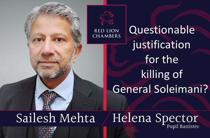 Questionable justification for the killing of General Soleimani?