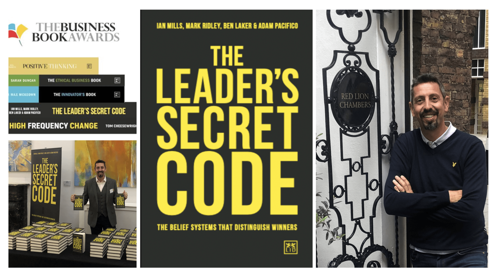 """RLC door tenant Adam Pacifico has new book """"The Leader's Secret Code"""" shortlisted for Business Book of the Year Award"""
