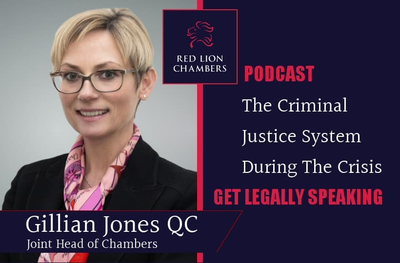 Gillian Jones QC appears on Get Legally Speaking podcast