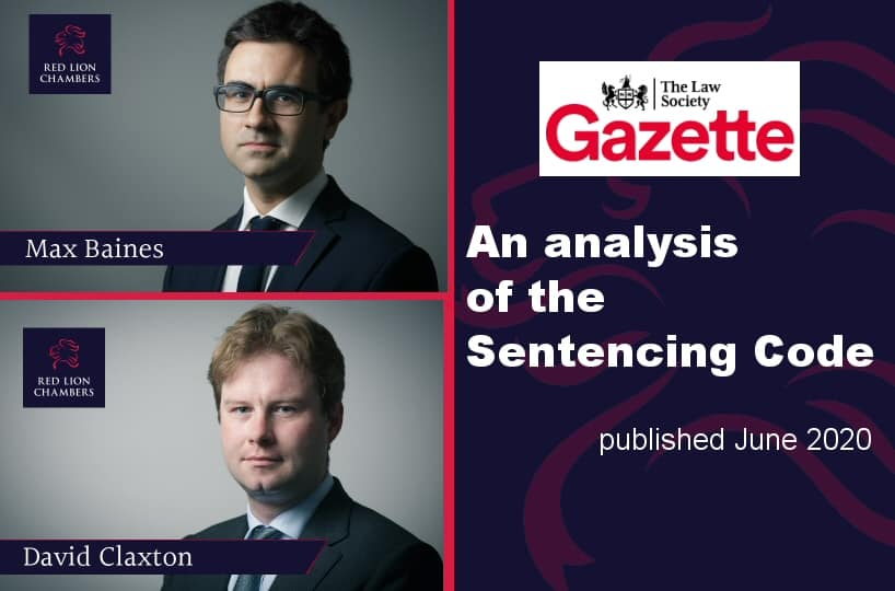 An analysis of the Sentencing Code