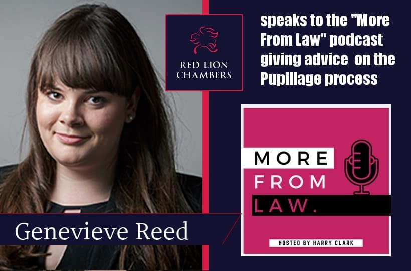Pupillage Tips from A Recruiter's Perspective with Genevieve Reed of Red Lion Chambers