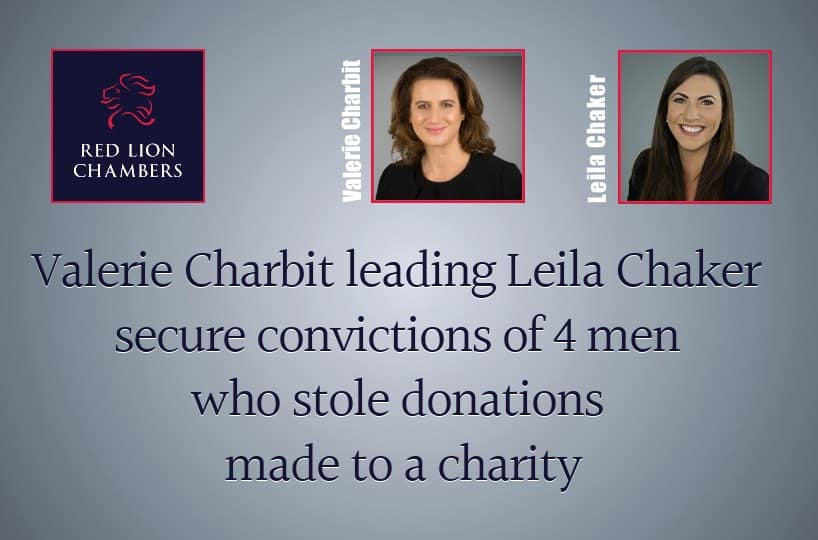Valerie Charbit leading Leila Chaker secure convictions of 4 men who stole donations made to a charity