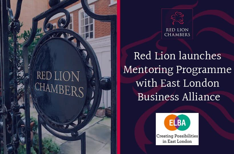 Red Lion launches Mentoring Programme with East London Business Alliance