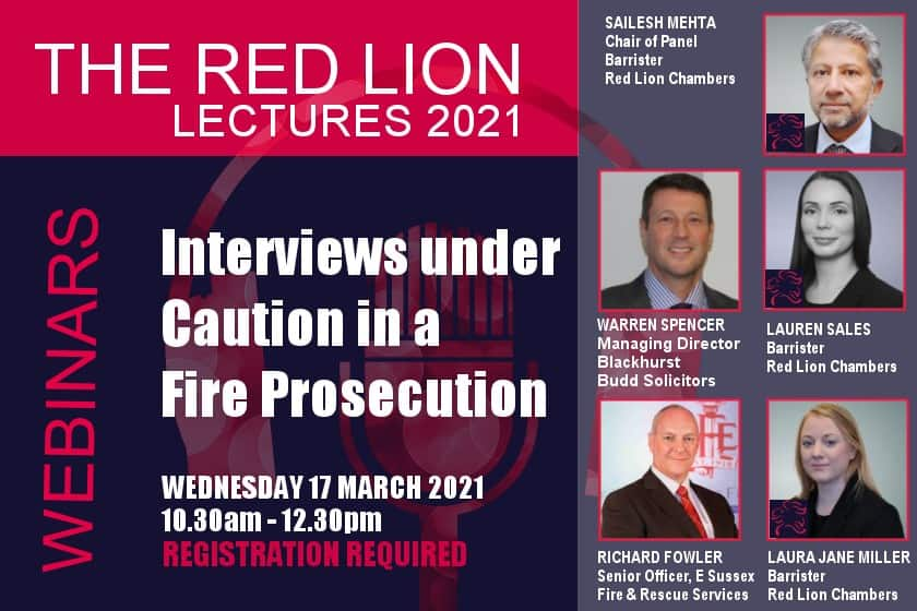Interviews under Caution in a Fire Prosecution (Recording restricted)