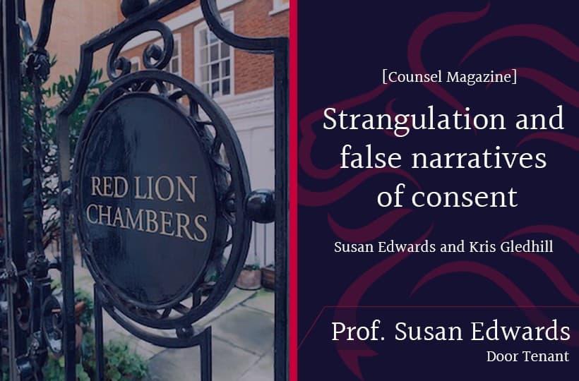 RLC Door Tenant Professor Susan Edwards and Professor Kris Gledhill write for Counsel Magazine
