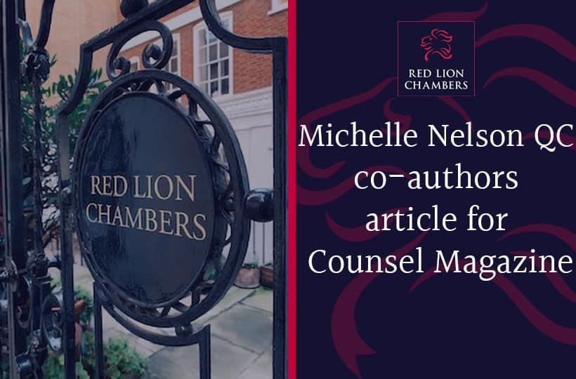 Michelle Nelson QC co-authors article for Counsel Magazine